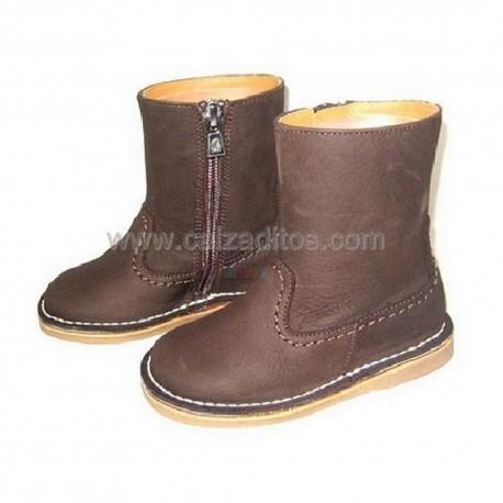 Botas de piel marrón para niño o niña, de Eli