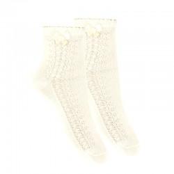 Calcetines tobilleros calado lateral y lazo de Cóndor
