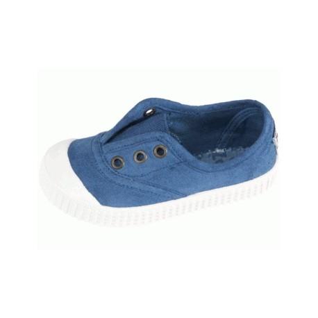 Zapatillas de lona en color azul glace con efecto deslavado, de Lonettes Zapy