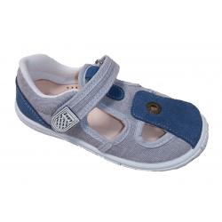 Sandalias de textil gris claro con velcro, de Zapy for kids