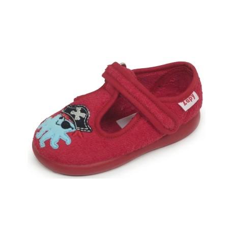 Zapatillas de estar en casa para niño de pulpos piratas de Zapy