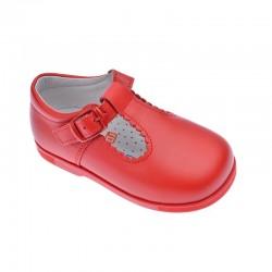 Zapatitos de niño en piel color rojo (pepitos), de Andanines