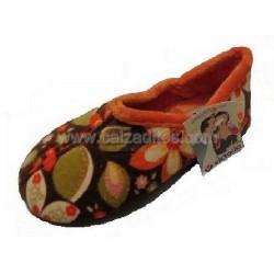 Zapatillas de estar en casa de color naranja para niña de Victoria