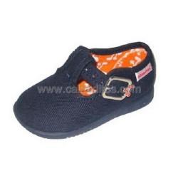 Zapatos (pepitos) de piké (lona) azul marino, de Titanitos