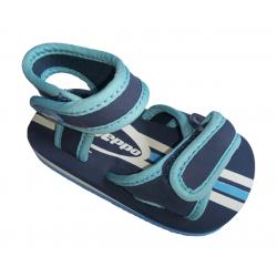 Sandalias de textil con dos velcros para bebe de Gioseppo