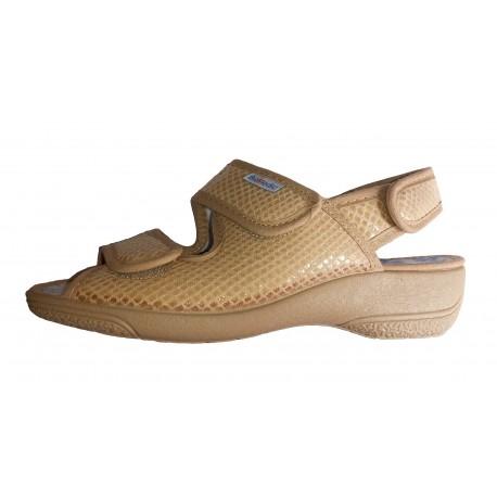 Sandalias de lona crudo para señora de BioMedic by Cabrera