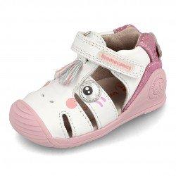 Sandalias para niña con unicornio de Biomecanics