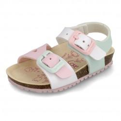 Sandalias para niña con piso bio de Garvalín
