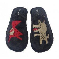 Zapatillas de estar en casa de pelito de la marca Garzón