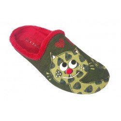 Zapatillas de estar en casa de terciopelo gato de la marca Garzón