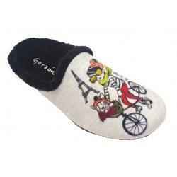 Zapatillas de estar en casa de terciopelo chica de la marca Garzón