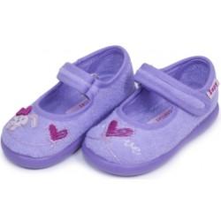 Zapatillas de estar en casa para niña de perritas con velcro de Zapy
