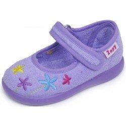 Zapatillas de estar en casa para niña con flores bordadas de Zapy