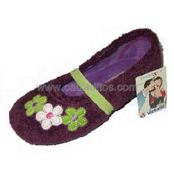 Zapatillas de estar en casa de color morado para niña de Victoria
