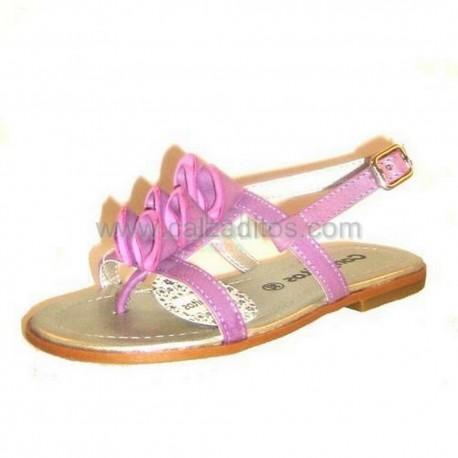 Sandalias de dedo color malva, de Conguitos