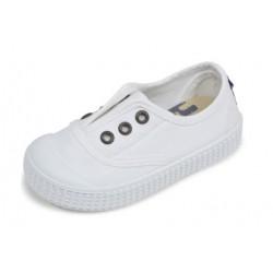 Zapatillas de lona con efecto lavado en color blanco, de Lonettes Zapy