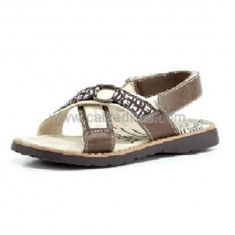 Sandalias de piel y lona de Conguitos