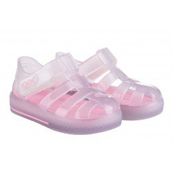 Sandalias de agua para niña modelo Tenis Cristal Transparente de Igor