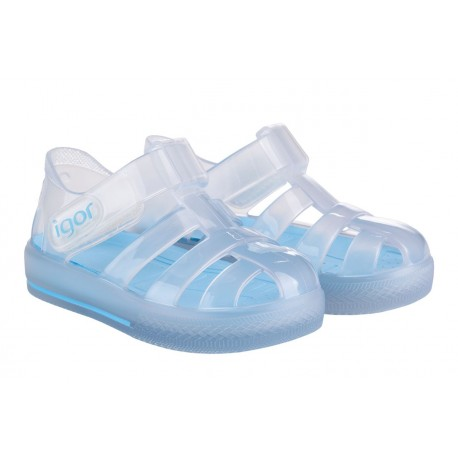 Sandalias de agua para niños modelo Star Cristal Transparente de Igor