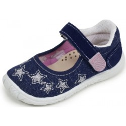 Merceditas de lona vaquera con estrellas de Lonettes Zapy for girls