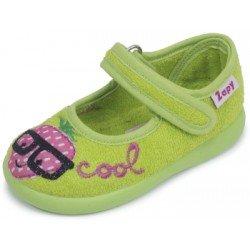 Zapatillas de estar en casa para niña fresa con gafas de Zapy