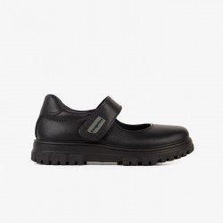 Zapatos colegiales para niña en piel lavable de Conguitos Wash Me