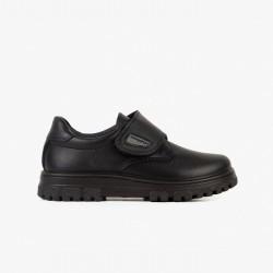 Zapatos colegiales para niño en piel lavable de Conguitos Wash Me