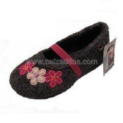 Zapatillas de estar en casa de color gris para niña de Victoria