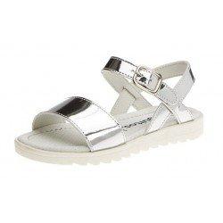 Sandalias de niña en espejo plata, de Conguitos