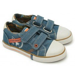 Zapatillas de lona vaquera para niño de Pablosky con dos velcros