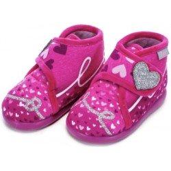 Zapatillas de estar por casa para niña Love de Zapy