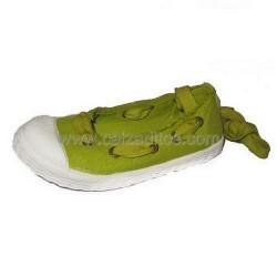 Bailarinas de lona efecto lavado en verde pistacho de Kaid & Izo