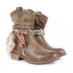 Botas cowboy girl de Chika10 con pañuelo de quita y pon