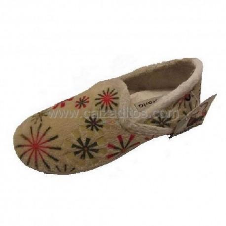 Zapatillas de estar en casa de color crudo para niña de Victoria