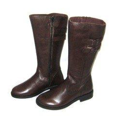 Botas de piel marrón para niña-chica, de Andanines