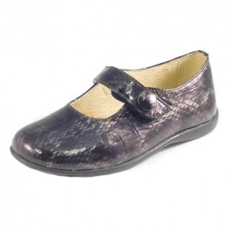 Zapatos de piel grises acharolados, de Andanines