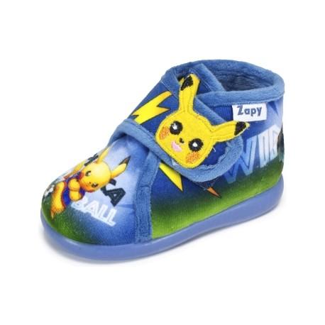 Zapatillas de estar en casa para niño de Pikachu de Zapy