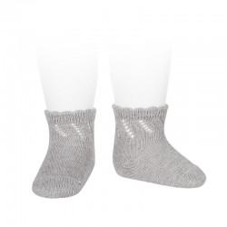 Calcetines cortos de perlé para bebé con calzado diagonal de Cóndor