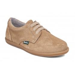Zapatos de piel serraje con elásticos de Gorila