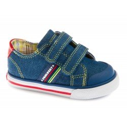Zapatillas de lona para niño con dos velcros de Pablosky