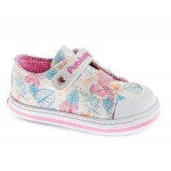 Zapatillas de lona con estampado de flores de Pablosky