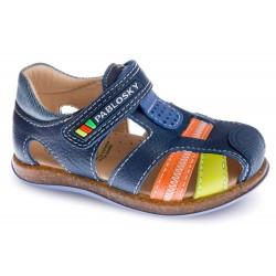 Sandalias de piel multicolor para niño de Pablosky