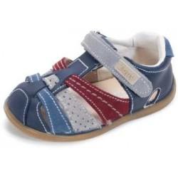 Sandalias para niño tricolores con velcro de Zapy