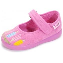 Zapatillas de estar en casa para niña con helados de Zapy