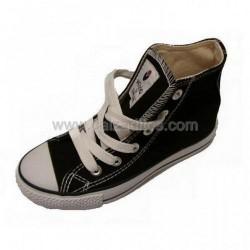 Botas de lona negras tipo basket, de Victoria