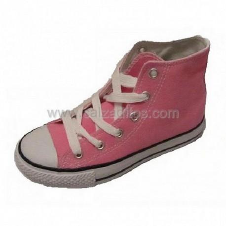 Botas de lona rosas tipo basket, de Victoria