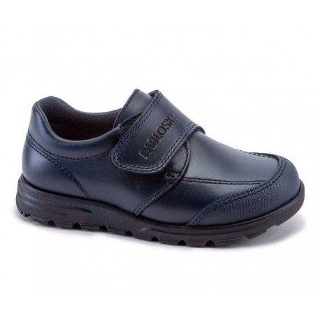 Zapatos colegiales de piel negra para niño, de Pablosky