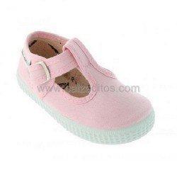 Zapatillas de lona tipo pepito en color rosa, de Victoria