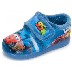 Zapatillas para estar en casa azules de rana con gafas con velcro, de Zapy