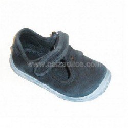 Zapato-sandalias de lona azules, de Zapy (pepitos)